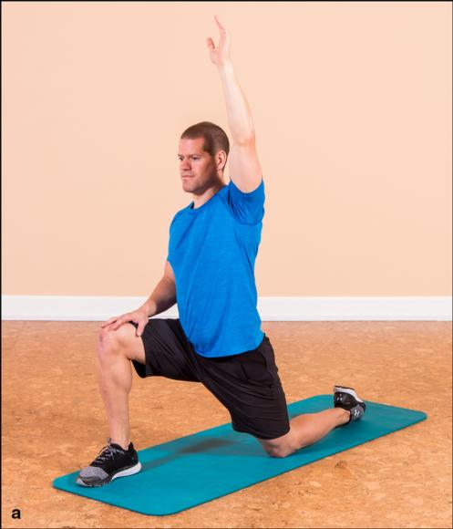 Figure 7.2 Hip flexors-torso-shoulder stretch.