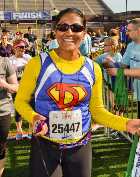 It's important to choose the clothes most comfortable for you. No matter what you're wearing, you'll still feel like a superhero when you finish your half marathon.