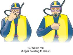 Figure 6.24 Scuba diving hand signals.