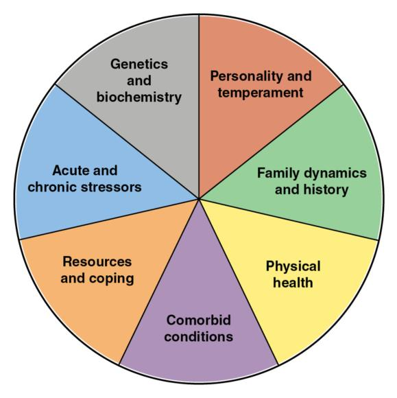 Figure 17.1 The biopsychosocial - spiritual model is a framework for understanding a person's responses in a given situation and the development of symptoms.