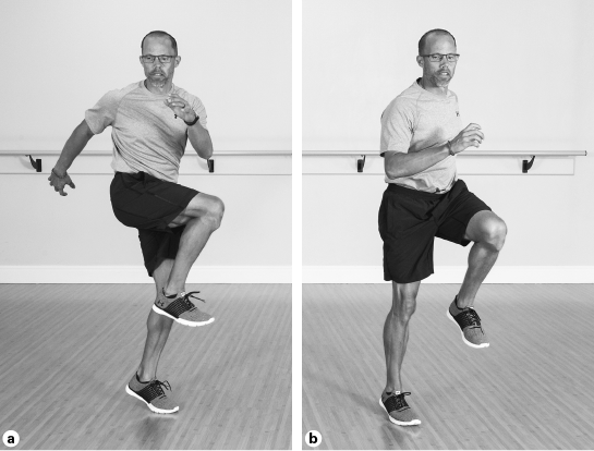 Lateral skip with rotation