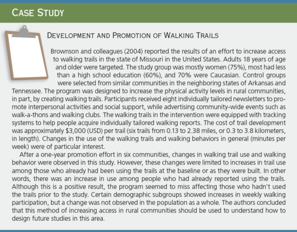 Case Study: Development and Promotion of Walking Trails