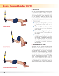 Elevated crunch and body saw with TRX