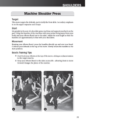 Machine Shoulder Press exercise