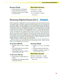 Receiving Flighted Passes Drill 5