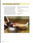 Sample pages: Swiss Ball Double Leg Hip Flexion