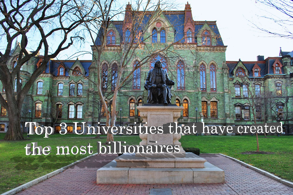 Top 3 Universities that have created the most billionaires