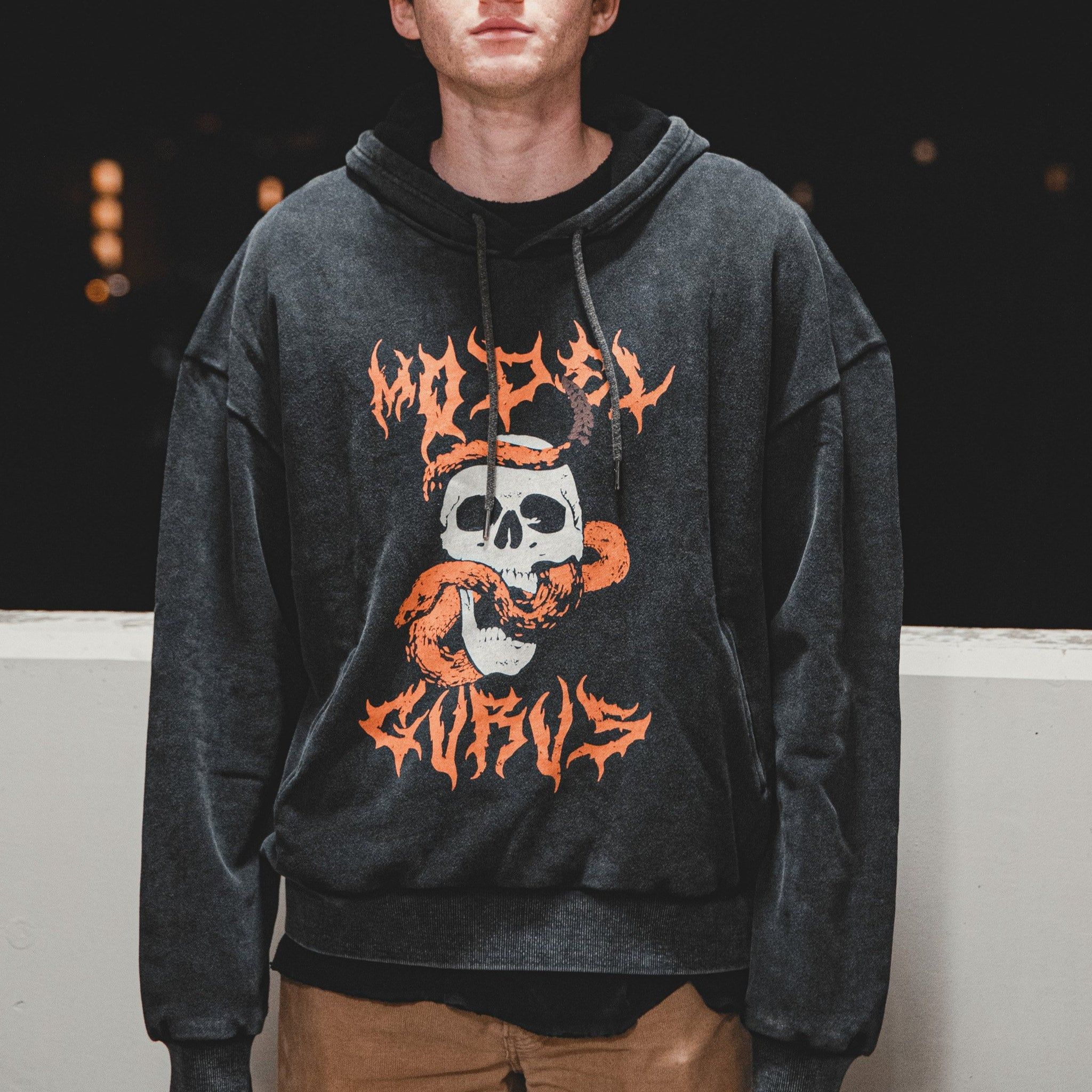 Poisoned Minds - Orange Vintage Hoodie