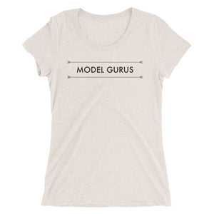 """New Beginnings"" - Ladies Model Gurus T- Shirt - Pink, Grey - Model Gurus Inc."