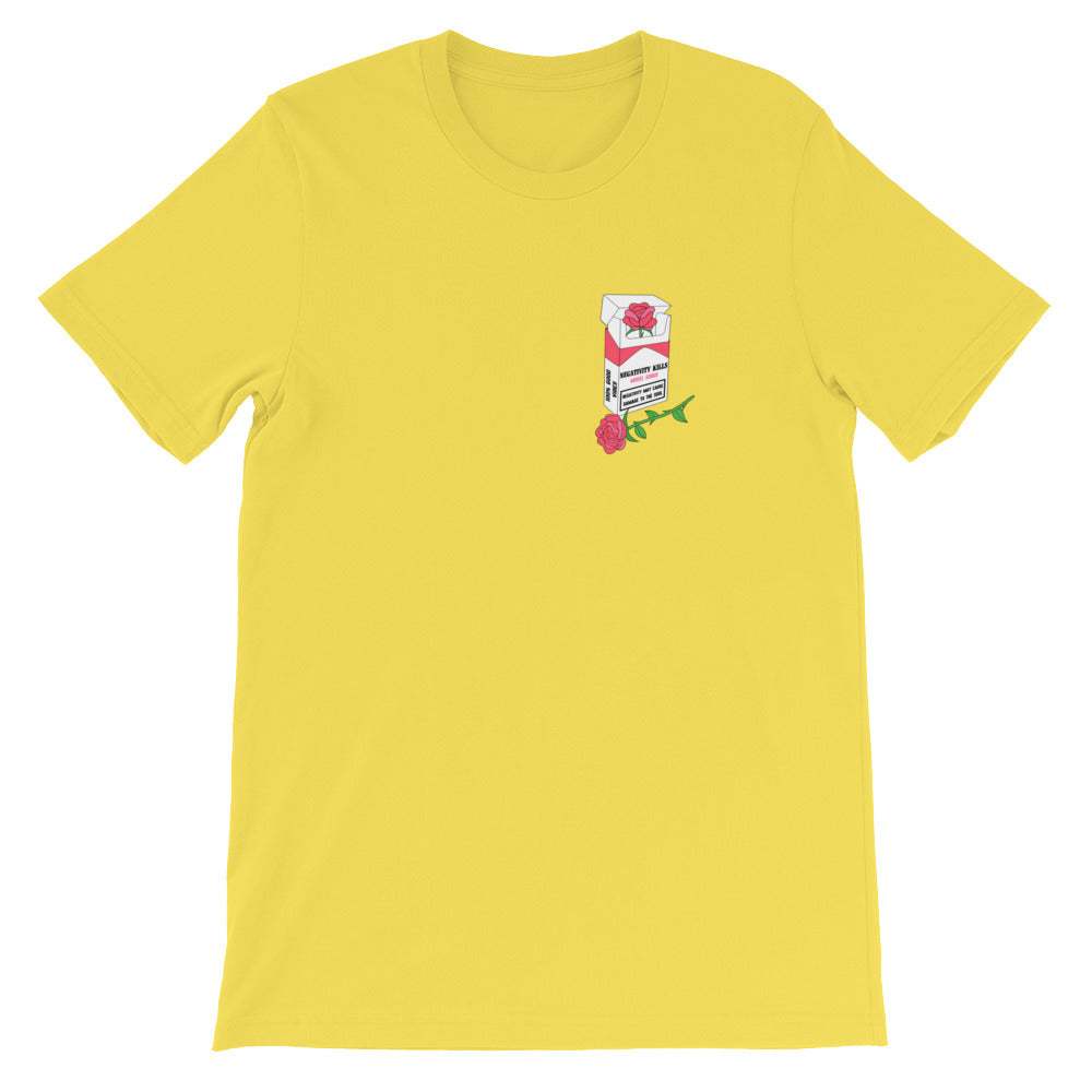 """Negativity Kills"" t-shirt - Pink, Yellow, Sand, Black, White - Model Gurus Inc."