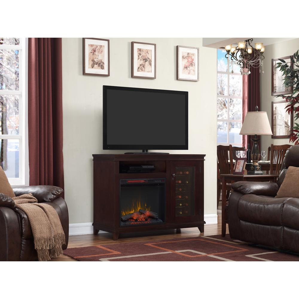 fireplace fenton media holly electric cherry martin