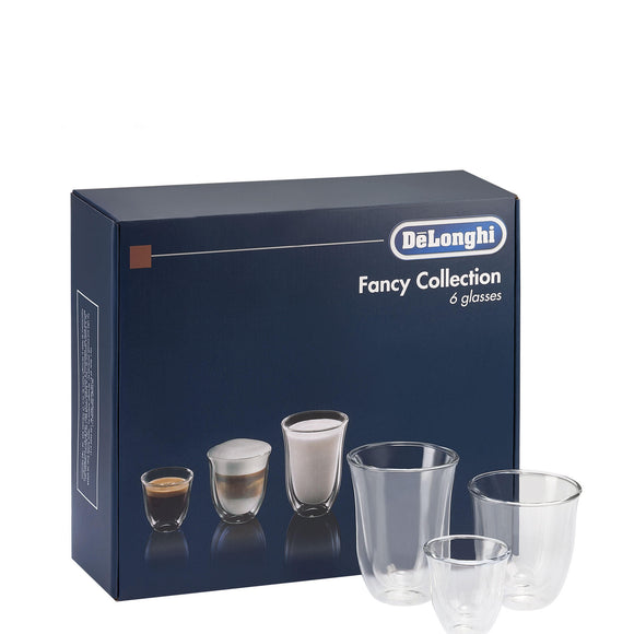 DE'LONGHI  Set of 6 Fancy Collection Coffee Glasses DLSC302