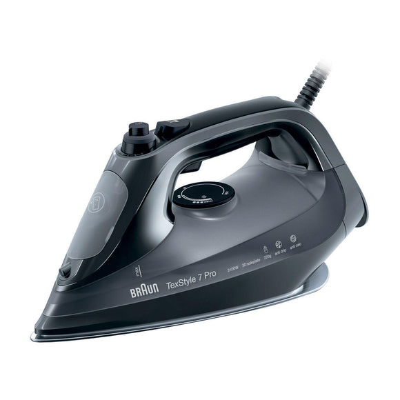 BRAUN  Steam Iron With Anti Scratch Eloxal 3d Soleplate SI7042BK