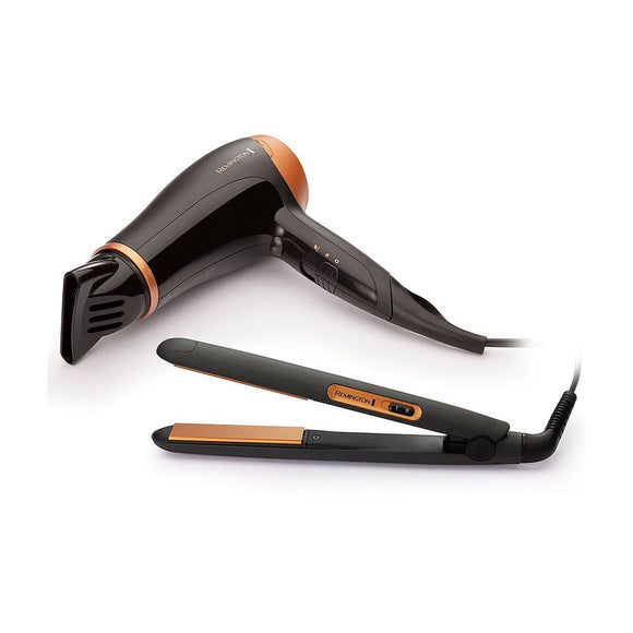 REMINGTON  Hair Dryer And Straightener Gift Pack D3012GP
