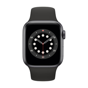 APPLE Watch Series 6 40mm Space Grey Aluminium Case with Black Sport Band MG133B/A