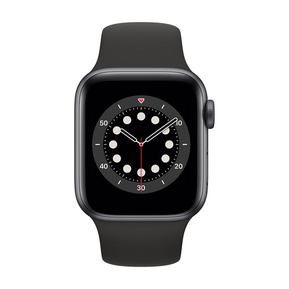 APPLE Watch Series 6 44mm Space Grey Aluminium Case with Black Sport Band M00H3B/A