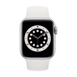 APPLE  Watch Series 6 40mm Silver Aluminium Case with White Sport Band  MG283B/A