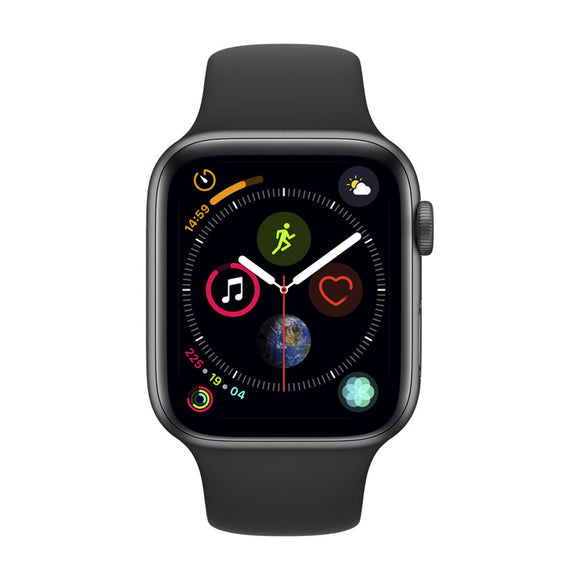Apple Watch Series 4 GPS, 40mm Space Grey Aluminium Case with Black Sport Band-MU662BA