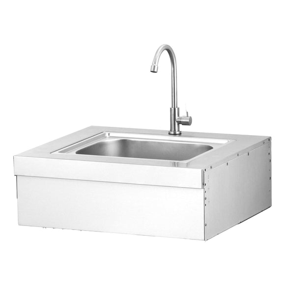 GRANDHALL Elite Built in Sink in Stainless steel complete with tap.