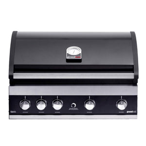 GRANDHALL Maxim G4 Black Built In Gas BBQ 4 Burn