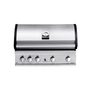 GRANDHALL Elite G4 Trolley, Built in Stainless Steel Gas BBQ, 4 Burners, back burner.