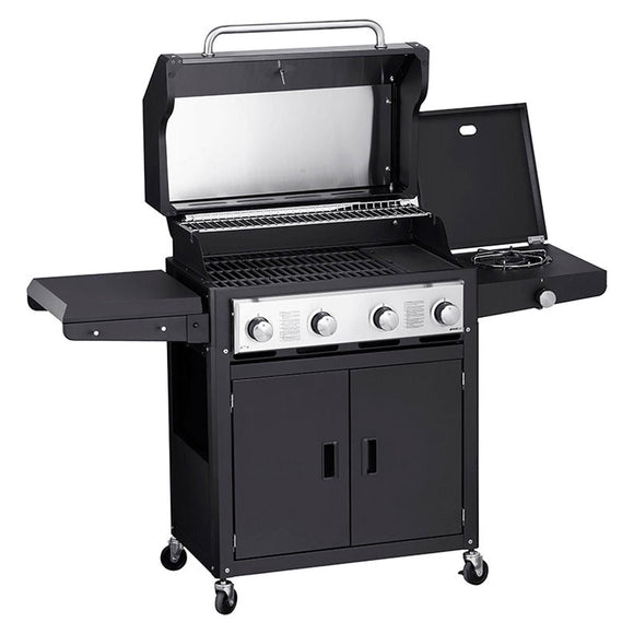 GRANDHALL Xenon 4 Black Gas Barbecue
