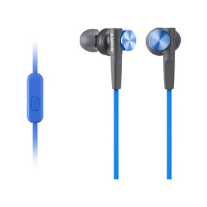 SONY  Extra Bass Blue In Ear Headphones With Mic Blue MDRXB50APLCE7