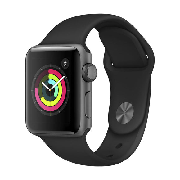 APPLE  Watch Series 3 GPS 38mm Space Grey Aluminium Case with Black Sport Band MTF02BA