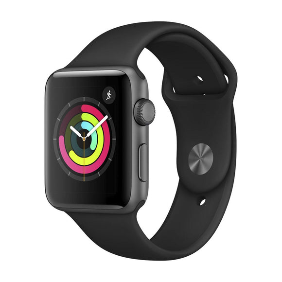 APPLE Watch Series 3 GPS, 42mm Space Grey Aluminium with Black Sport Band MTF32B/A