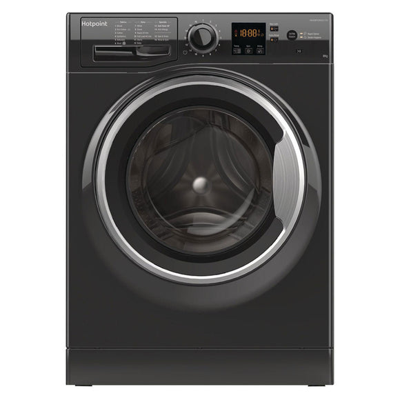 HOTPOINT 8KG 1400 spin Washing Machine NSWM843CBS