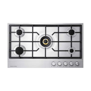 FISHER & PAYKEL Gas on Steel Hob 90cm 5 Burner-CG905DNGX1