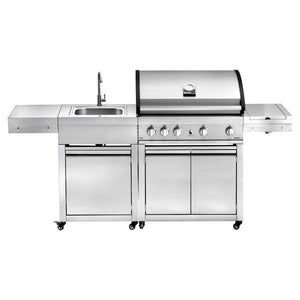 GRANDHALL Elite G4, Free Standing Gas BBQ With Sink - K01000118AK04000209A