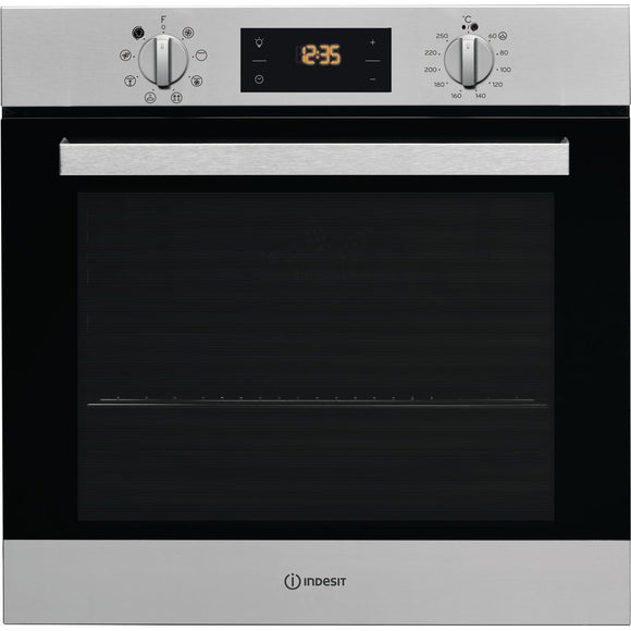INDESIT Aria Electric Single Built-in Oven -IFW6340IXUK