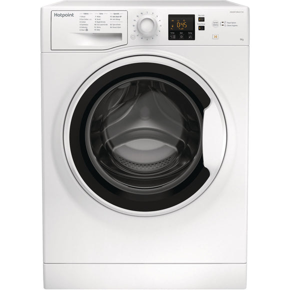 HOTPOINT 9 KG, 1400 SPIN WASHING MACHINE -  NSWA943CWW