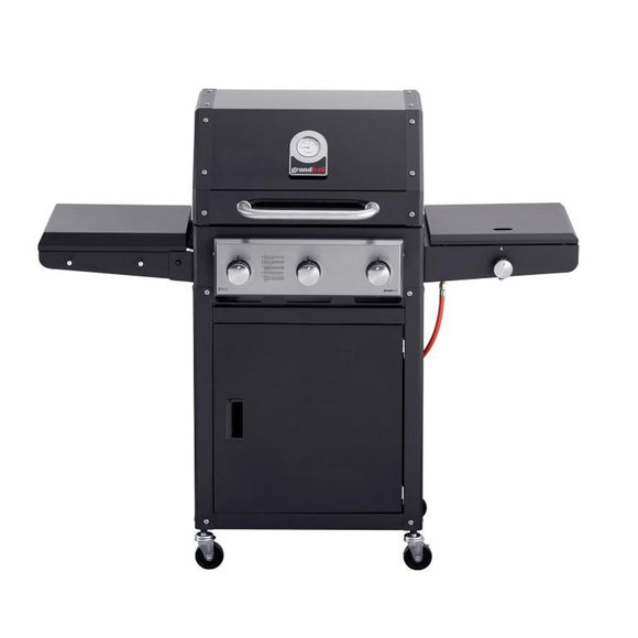 GRANDHALL Xenon 3 Black Gas Barbecue