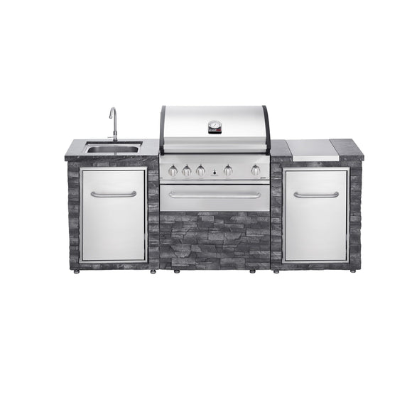 Grandhall Stone Island Outdoor Kitchen with Gas BBQ