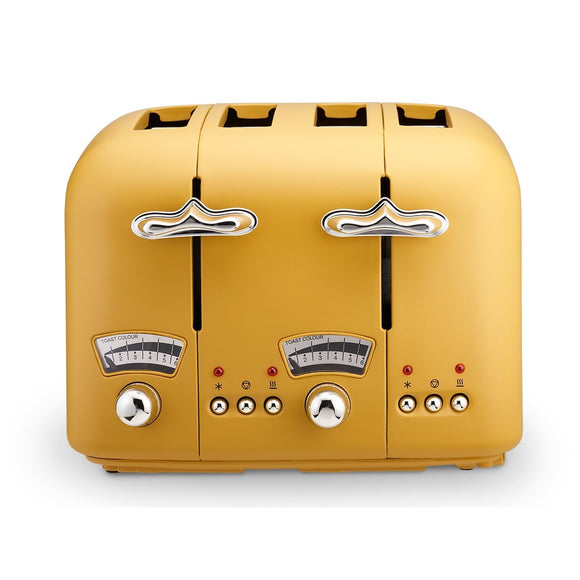 DELONGHI Argento Silva Yellow Toaster - CT04Y