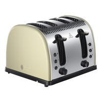 RUSSELL HOBBS Legacy Metalic 4 Slice Toaster White - 21302