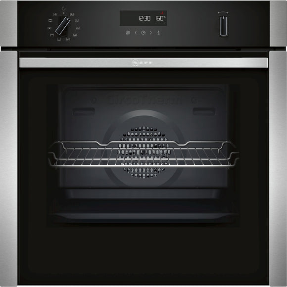Neff Single Oven - Slide & Hide Door- B6ACH7hN0B