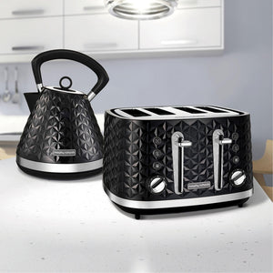MORPHY RICHARDS Vector Trad Kettle And 4 Slice Toaster Set - 108131248131