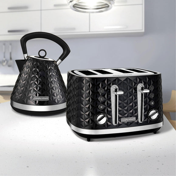 MORPHY RICHARDS Vector Trad Kettle And 4 Slice Toaster Set