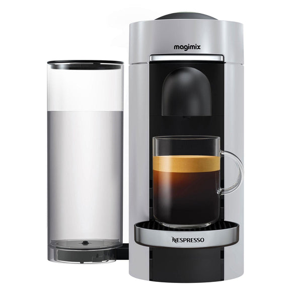 NESPRESSO VertuoPlus Coffee Machine Silver by Magimix