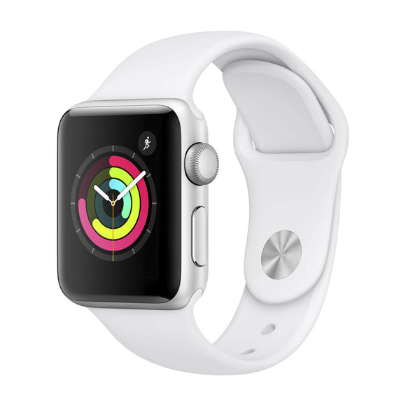 APPLE Watch Series 3 GPS, 42mm Silver Aluminium Case with White Sport Band-MTF22BA