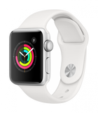 Apple Watch Series 3 GPS  38mm Silver Aluminium Case with White Sport Band  MTEY2B/A