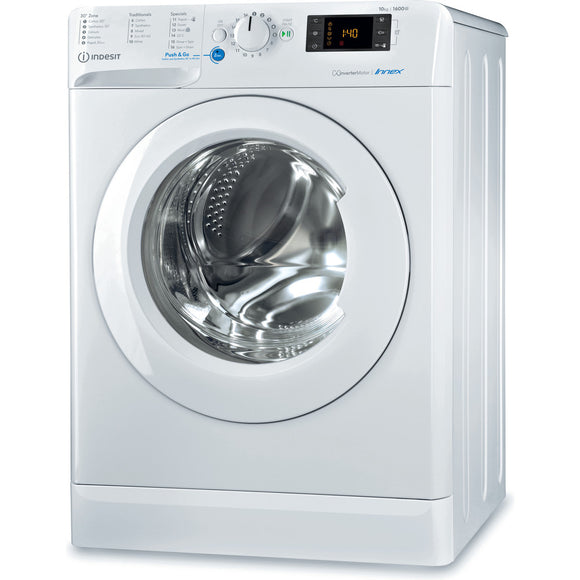 INDESIT  10KG, 1600 Spin, Washing Machine - BWE101683XW