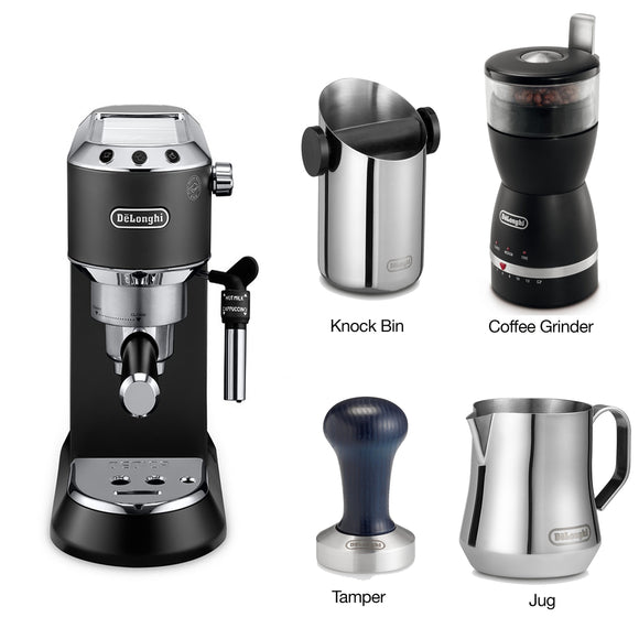 DELONGHI Dedica Pump Coffee Machine Combi Pack