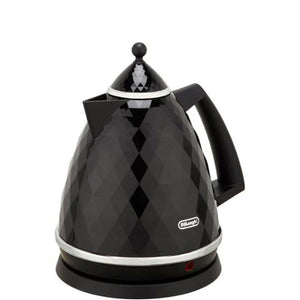 DELONGHI Brillante Faceted Jug Kettle - KBJ3001BK-Briscoes