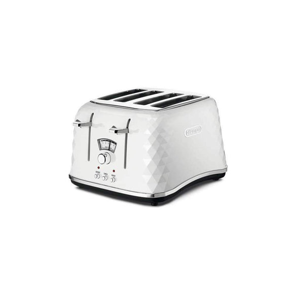 DELONGHI Brillante Ice 4 Slice Toaster - CTJ4003W-Briscoes