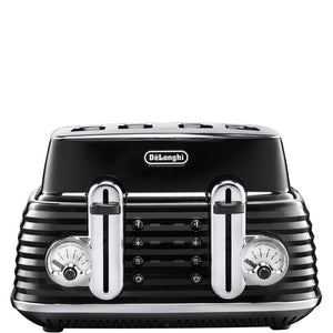 DELONGHI Scultura Four Slice Toaster - CTZ4003BK-Briscoes