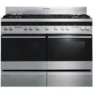 FISHER & PAYKEL 120cm Dual Fuel Range Cooker - OR120DDWGX2-Briscoes